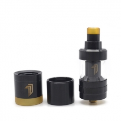 YFTK KF Prime Nite 22mm 316SS DLC RTA Rebuildable Tank Atomizer 2ml - Black