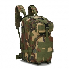 Outdoor Tactical Backpack 600D Nylon Waterproof Camouflage Trekking Rucksack - Jungle Camo