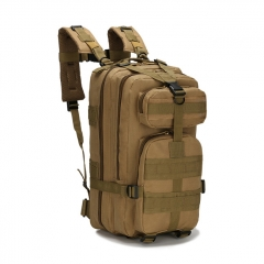 Outdoor Tactical Backpack 600D Nylon Waterproof Camouflage Trekking Rucksack - Tan