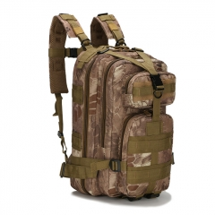Outdoor Tactical Backpack 600D Nylon Waterproof Camouflage Trekking Rucksack - Tan Python
