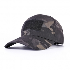 Baseball Hat Cabbie Cap - Black Camo