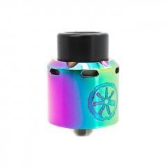 Authentic Asmodus Blank 24mm RDA Rebuildable Dripping Atomizer w/ BF Pin - Rainbow