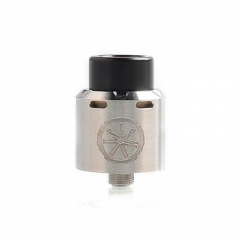 Authentic Asmodus Blank 24mm RDA Rebuildable Dripping Atomizer w/ BF Pin - Silver