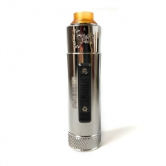 Vazzling Pur Slam Piece 30mm 18650/20700/21700/20650 Hybrid Mechanical Mod w/Shot RDA  - Silver
