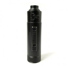 Vazzling Pur Slam Piece 30mm 18650/20700/21700/20650 Hybrid Mechanical Mod w/Shot RDA  - Black