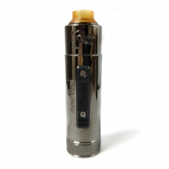 Vazzling Pur Slam Piece 30mm 18650/20700/21700/20650 Hybrid Mechanical Mod w/Shot RDA  - Gun Metal