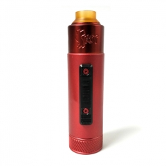 Vazzling Pur Slam Piece 30mm 18650/20700/21700/20650 Hybrid Mechanical Mod w/Shot RDA  - Red