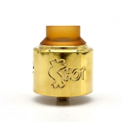 Shot Style 30mm RDA Rebuildable Dripping Atomizer - Brass