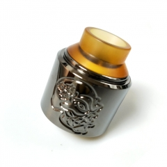 Pur Skull Style RDA Rebuildable Dripping Atomizer 28.5mm - Gun Metal