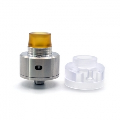 (Ships from Germany)ULTON Shift Batch 2 Style 316SS 22mm RDA w/ Extra Transparent Cap - Silver