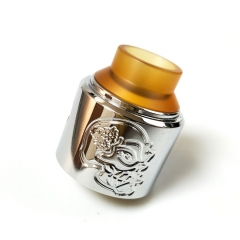 Pur Skull Style RDA Rebuildable Dripping Atomizer 28.5mm - Silver