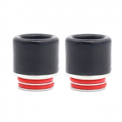 (Ships from Germany)Clrane 810 Stainless + Ceramic Drip Tip 2pcs - Black