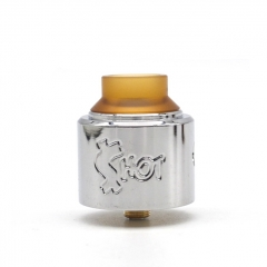 Shot Style 30mm RDA Rebuildable Dripping Atomizer - Silver