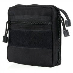 Outdoor EDC Tactical Nylon Storage Bag - Black