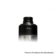 SXK FLVR Style 316SS 22mm RDA Rebuildable Dripping Atomizer w/BF Pin - Black