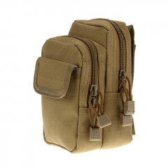 Outdoor Tactical Waistbag Nylon Waterproof X-2 - Khaki