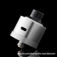 Hydro Style 22mm RDA Rebuildable Dripping Atomizer w/BF Pin - Silver