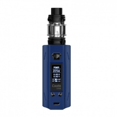 Authentic ATVS Castle 225W VV/VW Temperature Control Dual 18650 Box Mod w/SR-11 Mini Tank Kit - Prussian Blue