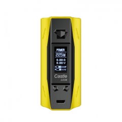 Authentic ATVS Castle 225W VV/VW Temperature Control Dual 18650 Box Mod - Yellow