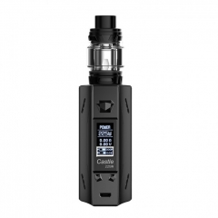 Authentic ATVS Castle 225W VV/VW Temperature Control Dual 18650 Box Mod w/SR-11 Mini Tank Kit - Black