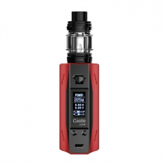 Authentic ATVS Castle 225W VV/VW Temperature Control Dual 18650 Box Mod w/SR-11 Mini Tank Kit - Red