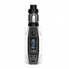 Authentic ATVS Castle 225W VV/VW Temperature Control Dual 18650 Box Mod w/SR-11 Mini Tank Kit - White