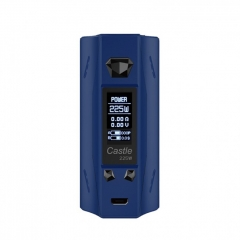 Authentic ATVS Castle 225W VV/VW Temperature Control Dual 18650 Box Mod - Prussian Blue