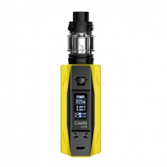 Authentic ATVS Castle 225W VV/VW Temperature Control Dual 18650 Box Mod w/SR-11 Mini Tank Kit - Yellow