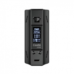 Authentic ATVS Castle 225W VV/VW Temperature Control Dual 18650 Box Mod - Black