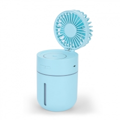 Outdoor Mini HandHeld USB Charging Fan Portable 2-in-1 USB Cooling Fan Air Humidifier T9 Fan - Blue