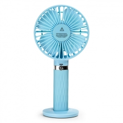Outdoor Mini HandHeld USB Charging Fan SAPI S8 Portable Fan - Blue