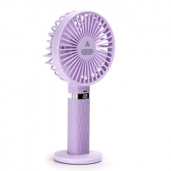 Outdoor Mini HandHeld USB Charging Fan SAPI S8 Portable Fan - Purple