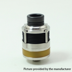 SXK PyroGeyser Style 316SS 22mm RDTA Rebuildable Dripping Tank Atomizer - Silver