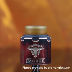 Authentic Thunderhead Creation THC Tauren RDA 24mm RDA Rebuildable Dripping Atomizer w/BF Pin - Black Red