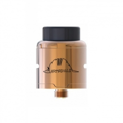 Authentic Oumier Armadillo 24mm RDA Rebuildable Dripping Atomizer - Champagne Gold