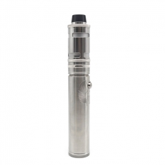 Scarab Pro Max + ULTON Typhoon GT4 Style 316SS 18650/21700 Mechanical Tube Mod Kit - Silver