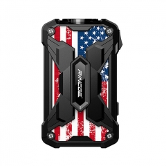 Authentic Rincoe Mechman 228W TC VW Variable Wattage Box Mod Dual 18650 - Steel Wing American Flag Black