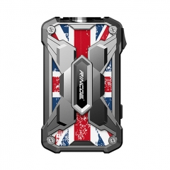 Authentic Rincoe Mechman 228W TC VW Variable Wattage Box Mod Dual 18650 - Steel Wing Union Flag SS