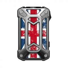 Authentic Rincoe Mechman 228W TC VW Variable Wattage Box Mod Dual 18650 - Steel Case Union Flag SS