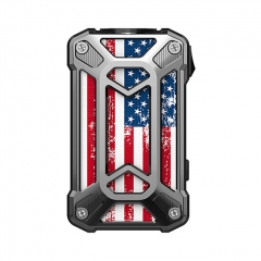 Authentic Rincoe Mechman 228W TC VW Variable Wattage Box Mod Dual 18650 - Steel Case American Flag SS