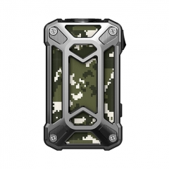 Authentic Rincoe Mechman 228W TC VW Variable Wattage Box Mod Dual 18650 - Steel Case Camo  SS