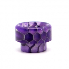 Clrane 810 Replacement Snake Skin Style Resin Drip Tip - Purple