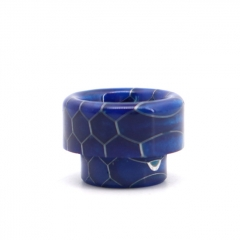 Clrane 810 Replacement Snake Skin Style Resin Drip Tip - Blue