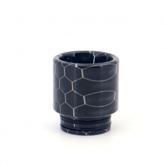 Clrane 810 Replacement Snake Skin Style Resin Drip Tip Long - Black