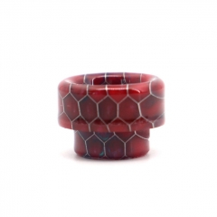 Clrane 810 Replacement Snake Skin Style Resin Drip Tip - Red