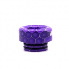 Clrane 810 Replacement Snake Skin Style Resin Drip Tip Short - Purple