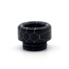 Clrane 810 Replacement Snake Skin Style Resin Drip Tip Short - Black