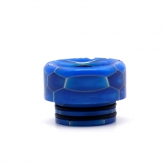 Clrane 810 Replacement Snake Skin Style Resin Drip Tip Short - Blue