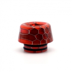 Clrane 810 Replacement Mushroom Style Resin Drip Tip - Red