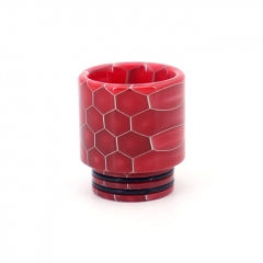 Clrane 810 Replacement Snake Skin Style Resin Drip Tip Long - Red